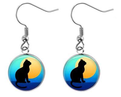 Sunset Cat Earrings
