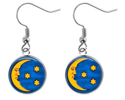 Moon Earrings Dangle Earrings