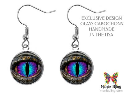 Blue Dragon Eye Earrings Dangle Earrings