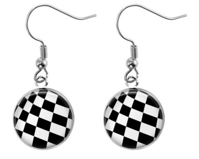 Checkerboard Earrings Dangle Earrings