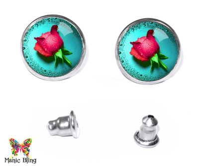 Rose Stud Earrings Earrings