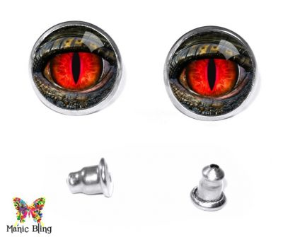 Red Dragon Eye Stud Earrings Earrings