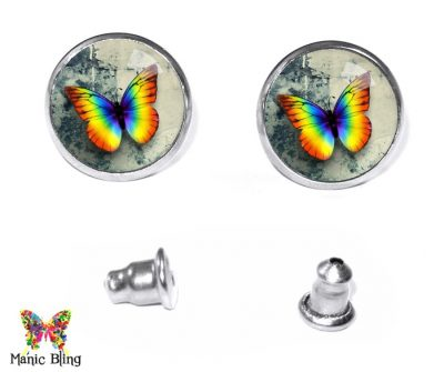 Rainbow Butterfly Stud Earrings Earrings