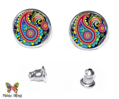 Paisley Stud Earrings Earrings