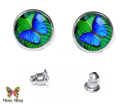 Morpho Butterfly Stud Earrings Earrings