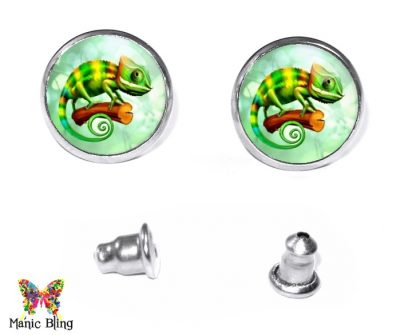 Chameleon Stud Earrings Earrings