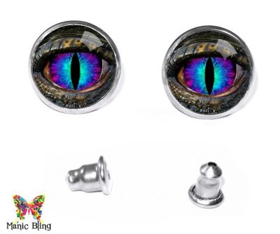 Blue Dragon Eye Stud Earrings