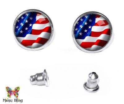 American Flag Stud Earrings Earrings