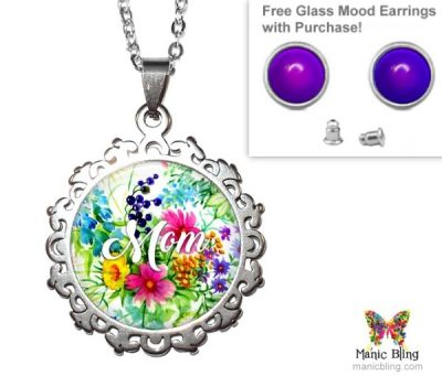 Wildflowers Mom Pendant Mother's Day