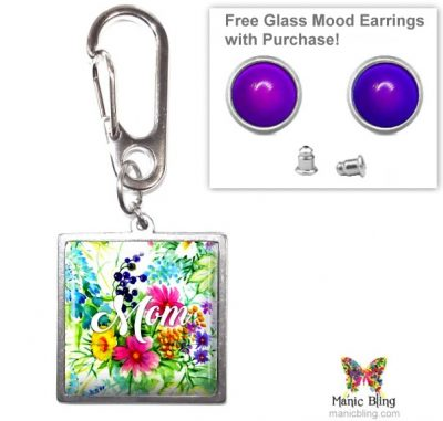 Wildflower Mom Purse Charm Mother's Day