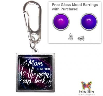 To The Moon Purse Charm Mother's Day