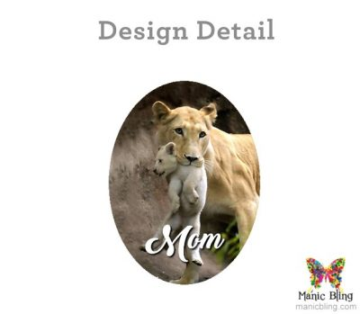 Lion Mom Oval Pendant