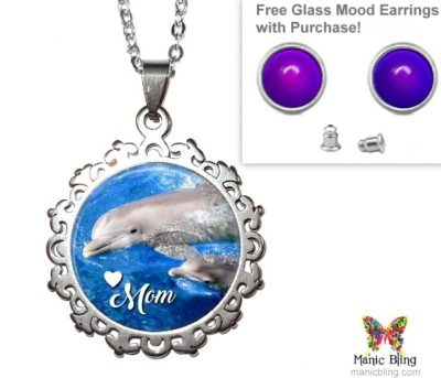 Dolphin Mom Pendant Mother's Day