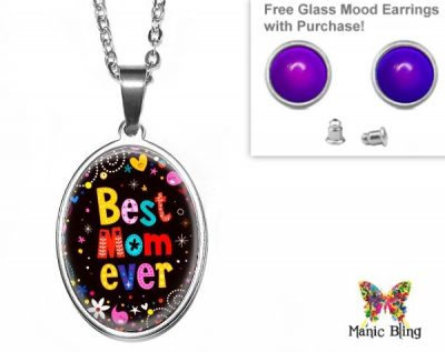 Best Mom Oval Pendant