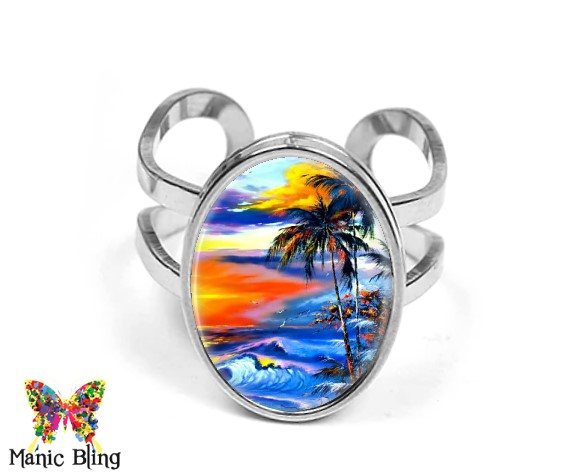 Beach Oval Ring