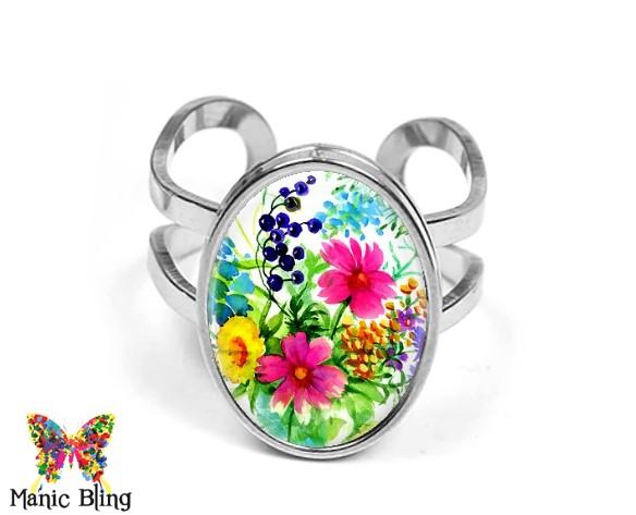 Wildflowers Oval Ring Rings