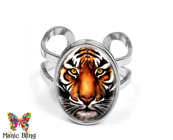 Tiger Oval Ring Rings