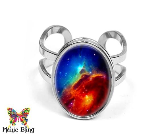 Nebula Oval Ring Rings