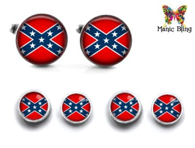 Confederate Flag Cufflinks and Studs Cufflinks & Tie Tacks