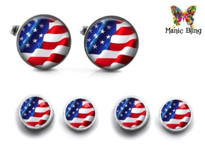 American Flag Cufflinks and Studs Cufflinks & Tie Tacks
