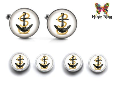Anchor Cufflink Set Cufflinks & Tie Tacks