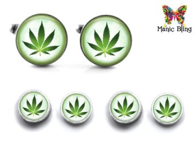 Cannabis Cufflinks and Studs Cufflinks & Tie Tacks
