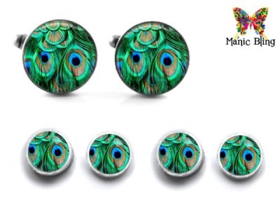 Peacock Cufflink Set Cufflinks & Tie Tacks