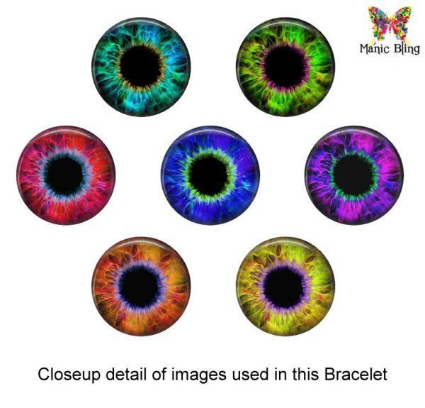 Evil Eye Glass Photo Bracelet Bracelets