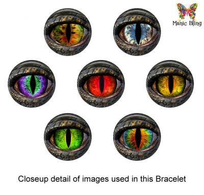 Dragon Eye Colorful Glass Photo Bracelet