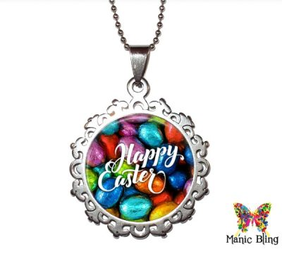 Foil Easter Eggs Pendant