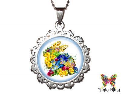 Flower Rabbit Pendant Easter