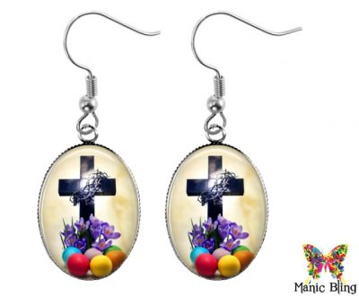 Easter Cross Dangle Earrings Easter