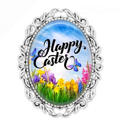 Happy Easter Brooch