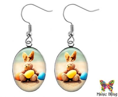 Easter Bunny Dangle Earrings Easter