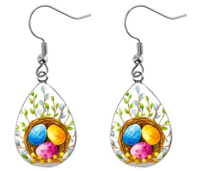 Watercolor Teardrop Earrings Easter