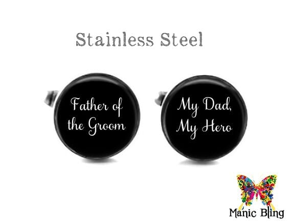 Father of the Groom Cufflinks Black