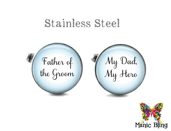 Father of the Groom Cufflinks Blue
