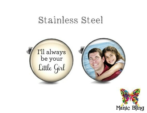 Father of the Bride Cufflinks Tan