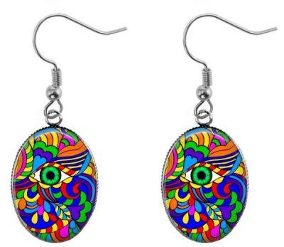 Colorful Art Earrings Dangle Earrings
