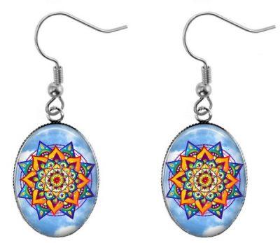 Mandala Earrings Dangle Earrings