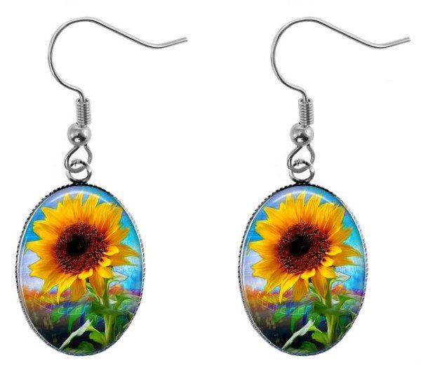 Summer Sunflower Earrings Dangle Earrings