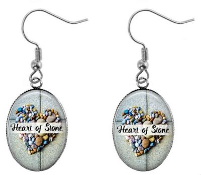 Heart of Stone Oval Earrings Dangle Earrings
