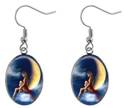 Moon Woman Earrings Dangle Earrings