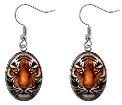 Tiger Earrings Dangle Earrings