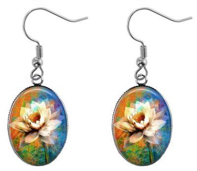 Water Lily Earrings Dangle Earrings