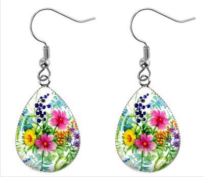 Wildflower Teardrop Earrings Dangle Earrings