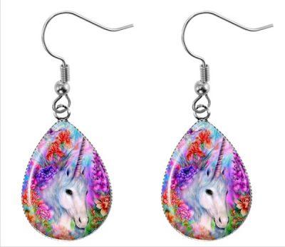 Unicorn Teardrop Earrings Dangle Earrings