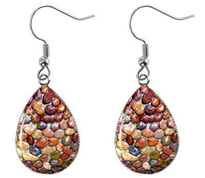 Stones Teardrop Earrings Dangle Earrings