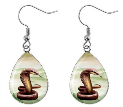 Cobra Teardrop Earrings Dangle Earrings