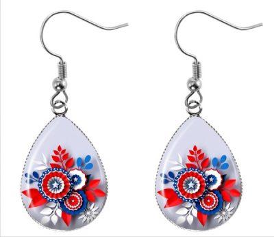 Red White Blue Earrings